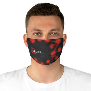 Black and Red Fabric Face Mask