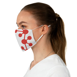 Casper White and Red Node Fabric Face Mask
