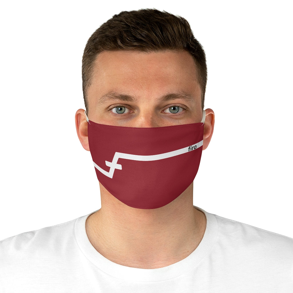 Firo Red Fabric Face Mask