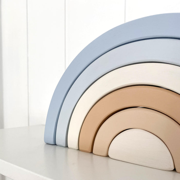 Wooden Rainbow | Blue & Beige