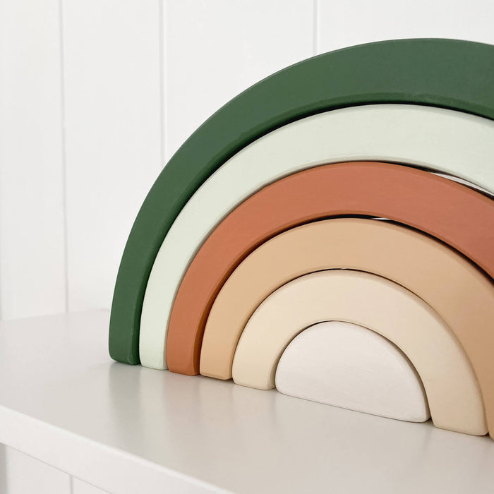 Wooden Rainbow | Green and Terracotta