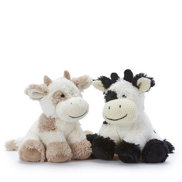 Coco the cow beige black plush toy