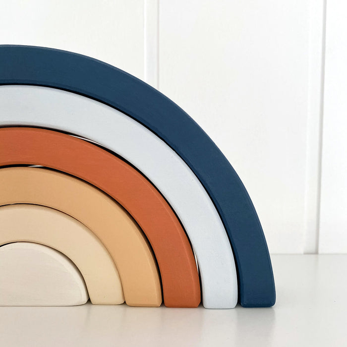 Wooden Rainbow | Navy and Terracotta