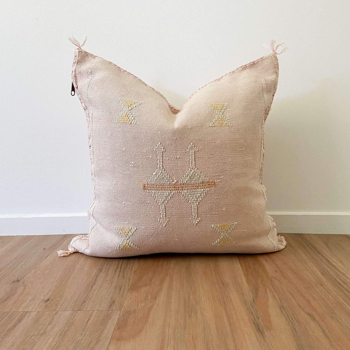 Cactus Silk Cushion | Pink, Blue & Yellow