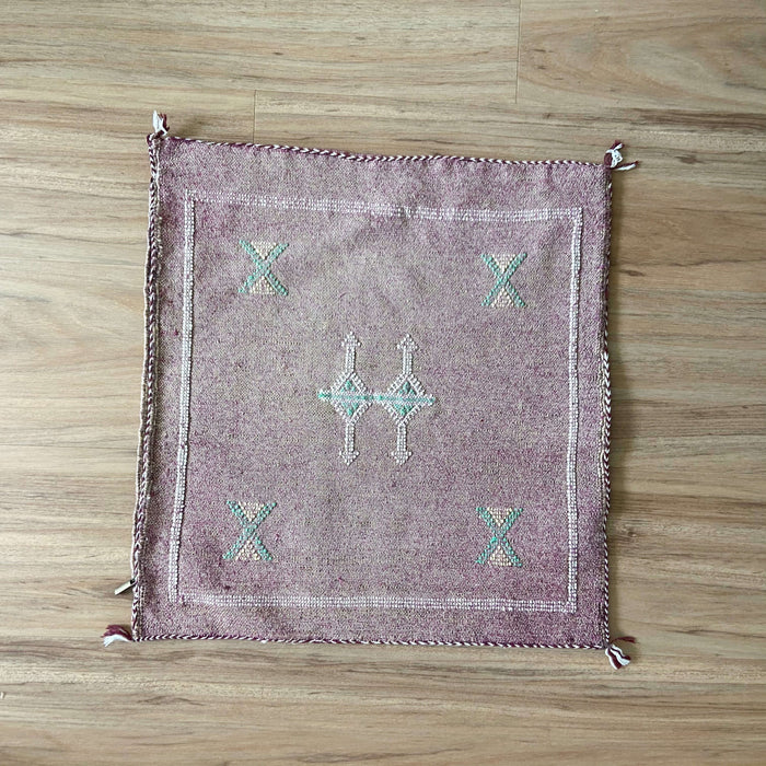 Cactus Silk Cushion | Plum & Teal