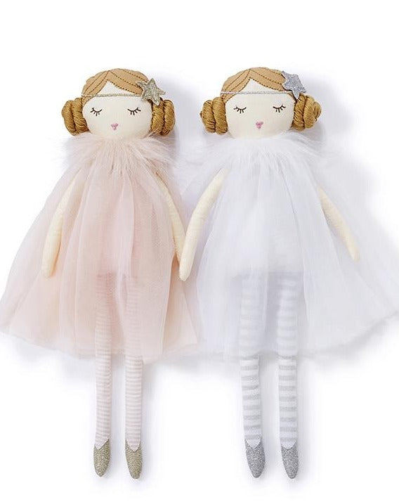 Girls ragdoll toys by Nana Huchy Plush Doll in white or pink