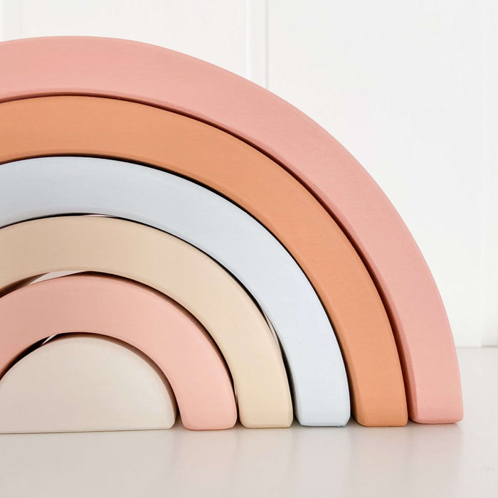 Wooden Rainbow | Pink & Blue