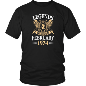 Kings Legends Are Born In February 1974 Men's Women's T Shirt - Men Women