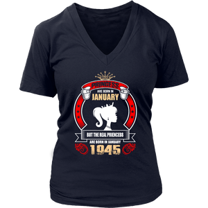 Princess are Born in January But Only Real Princess are Born in January 1945 T-Shirt - Men Women