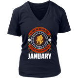 All Men Are Created Equal But Only The Best Are Born In January Gift T-Shirt - Men Women