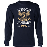 Kings Legends Are Born In January 1997 T-Shirt - Men Women