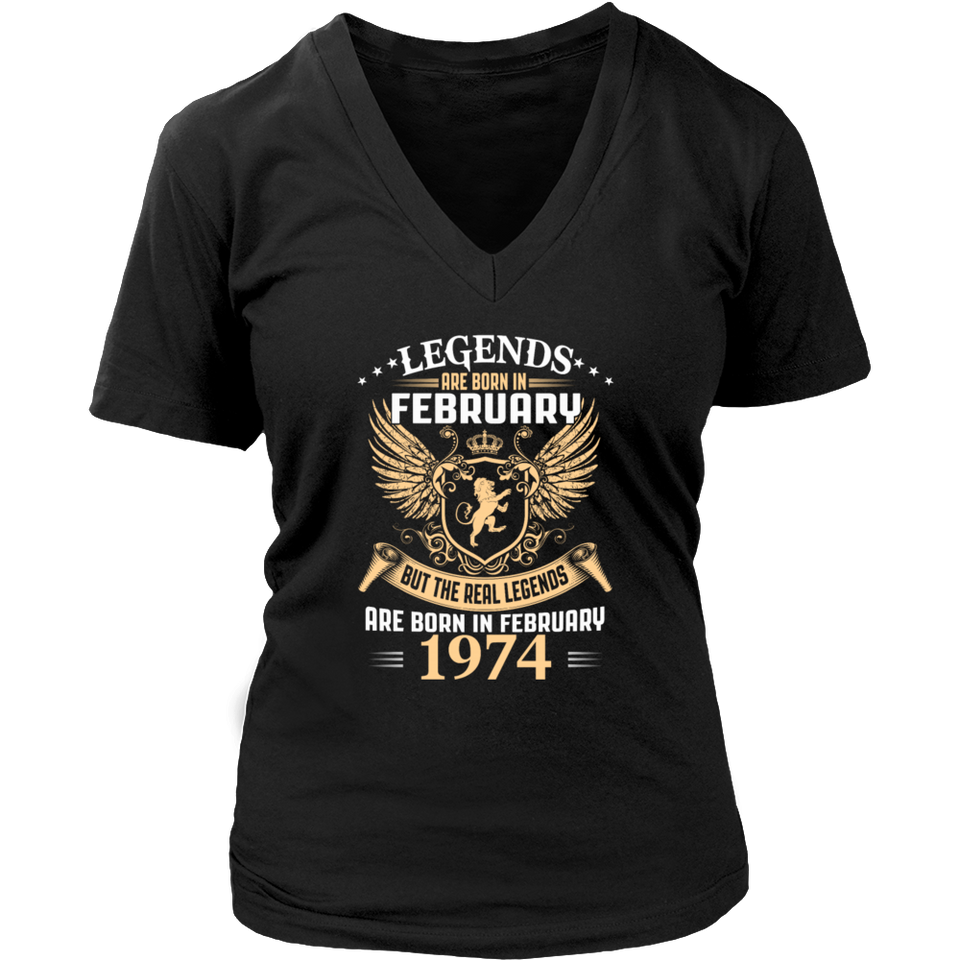 Kings Legends Are Born In February 1974 Funny Shirt - Men Women