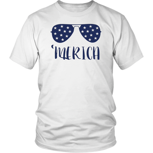 Merica Glasses 4th of July shirt - Men Women