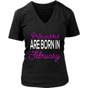 Princesses are born in February gift Gift T Shirt - Men Women