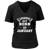 Legends are born in January T-Shirt - Men Women
