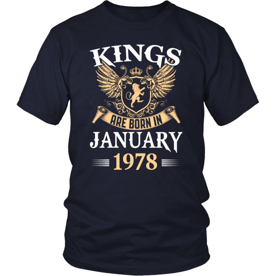 Kings Legends Are Born In January 1978 Birthday Gift - Men Women