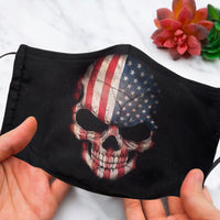 American Flag Skull Face Mask
