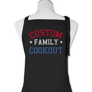 (Custom) Family Cookout - Personalized - Apron - Teekoc