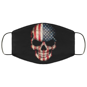 American Flag Skull Face Mask - Men Women
