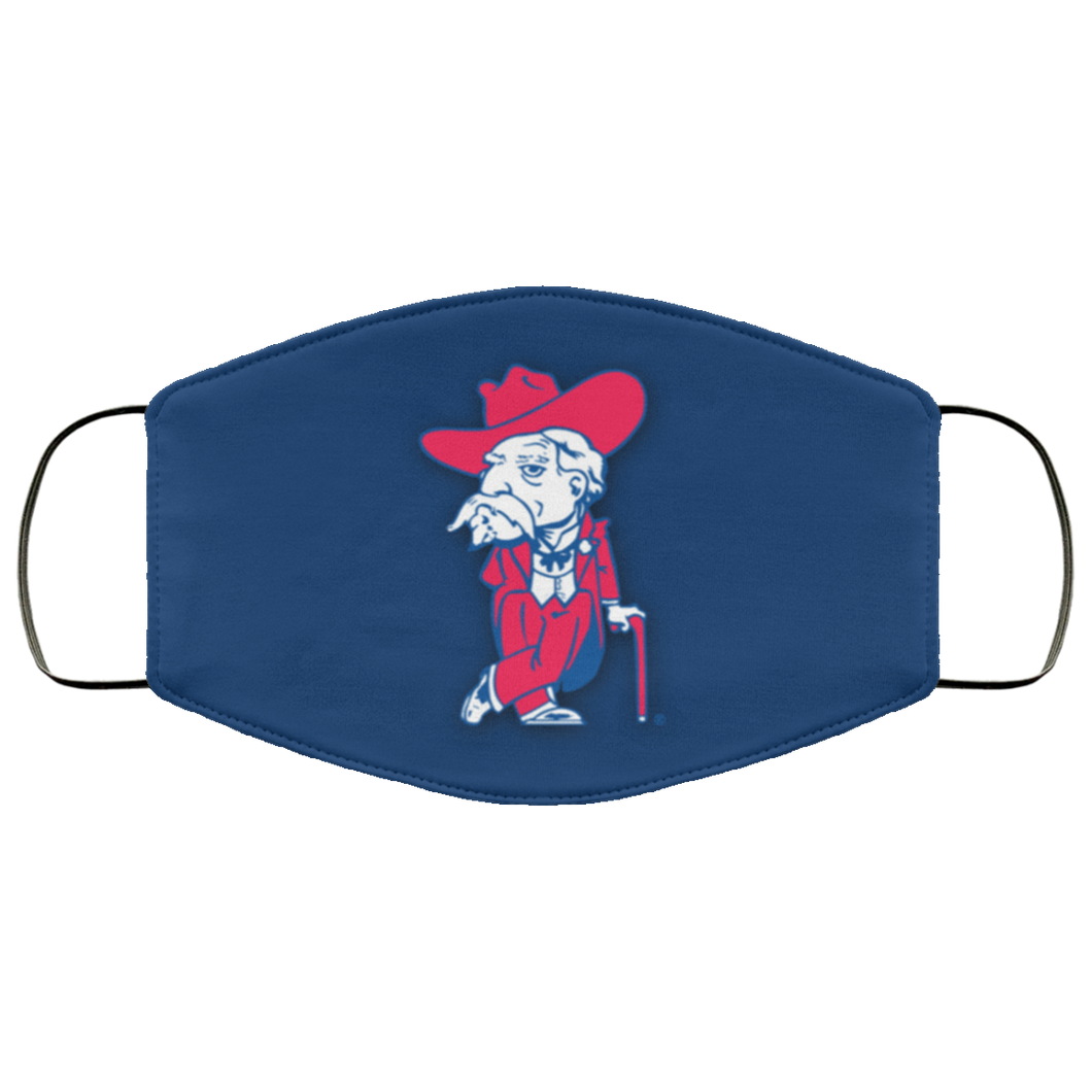 Ole Miss Wallpaper Face Mask - Men Women