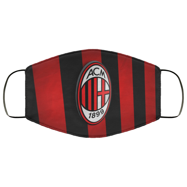 AC Milan 3D Logo Face Mask - Men Women