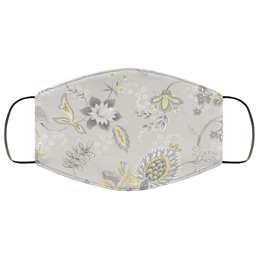 Jacobean Floral Wallpaper Face Mask - Men Women