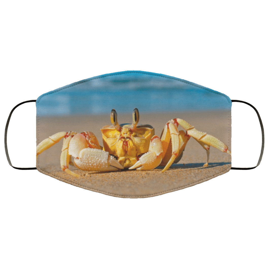 Crab Beach Sand Sea Animals Face Mask - Teekoc