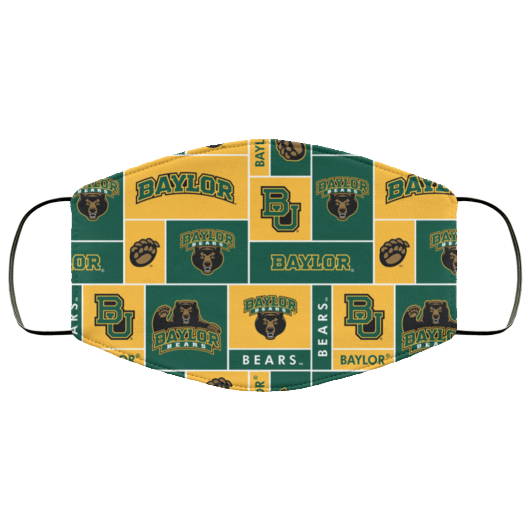 Baylor Bears Face Mask – Adults Mask US - Men Women