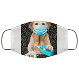 Labrador Retriever Dog Wash Your Hand Quarantined 2020 Face Mask - Men Women