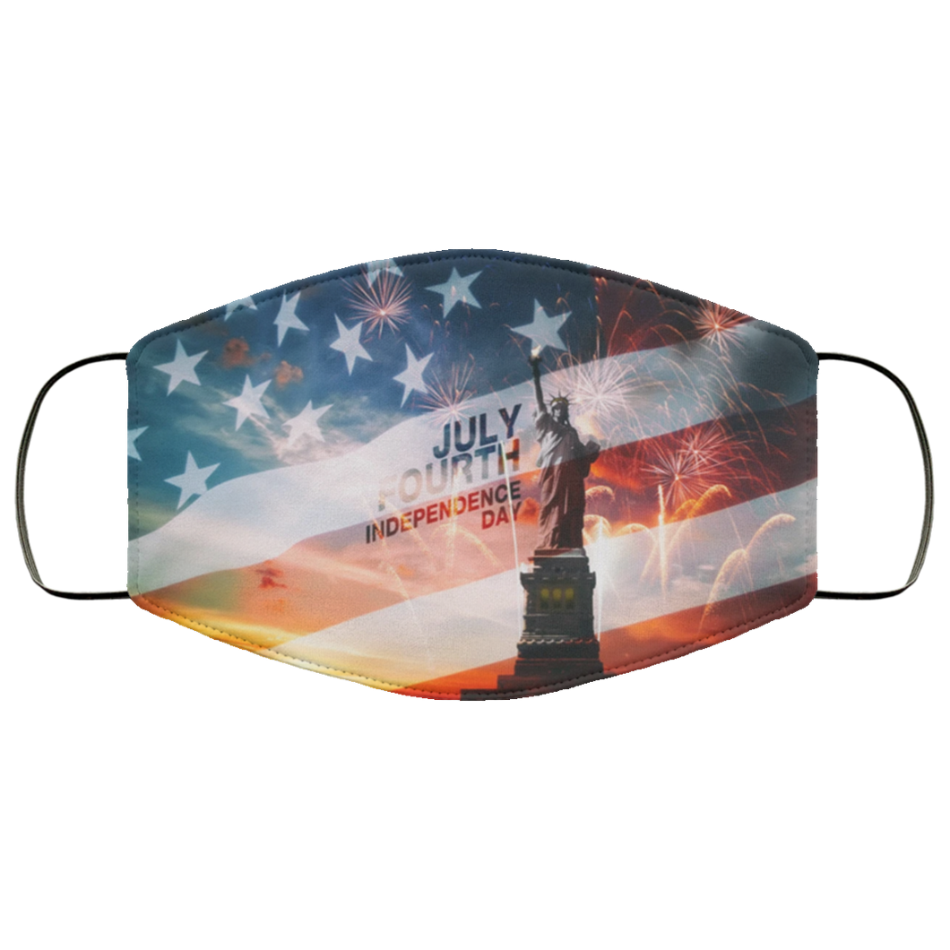 USA Independence Day Flag Statue Of Liberty Face Mask - Men Women