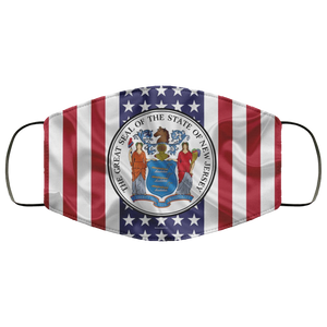 New Jersey American State Cloth Face Mask - Men Women
