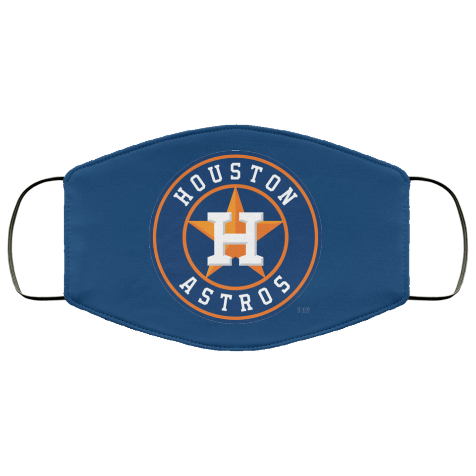 Logo Houston Astros Face Mask Filter - Men Women