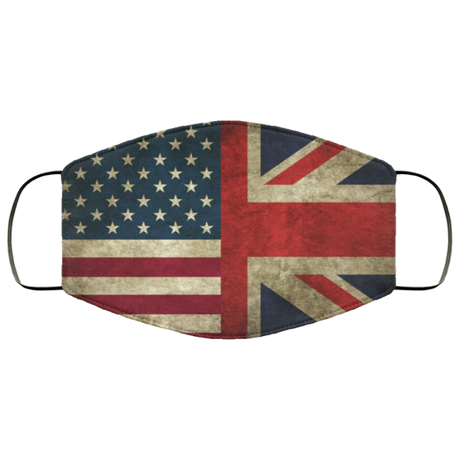 USA, Union Jack, flags Face Mask - Men Women