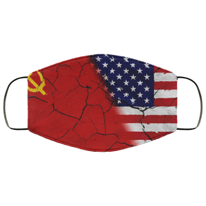 China, wall, USA, Flag Face Mask - Men Women