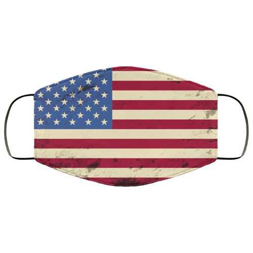 American flag Grunge background Face Mask - Men Women