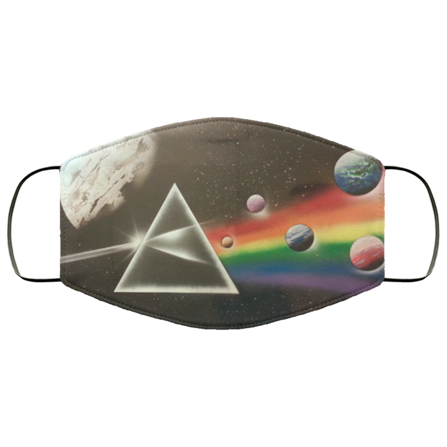 PINK FLOYD The Dark Side of the Moon Spray Paint Face Mask - Men Women