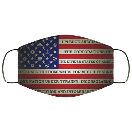 america, anarchy, dark, flag, horror, humor, sadic, statement Face Mask - Men Women