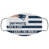 This Is How I Save The World New England Patriots Face Masks - Men Women
