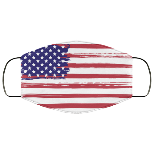 Grunge usa flag Face Mask - Men Women