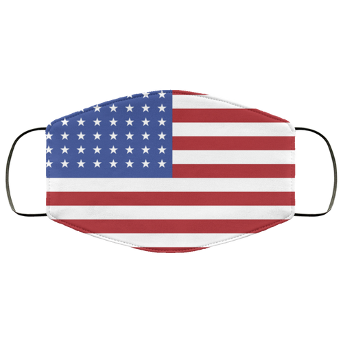 Free US Flag Face Mask - Men Women