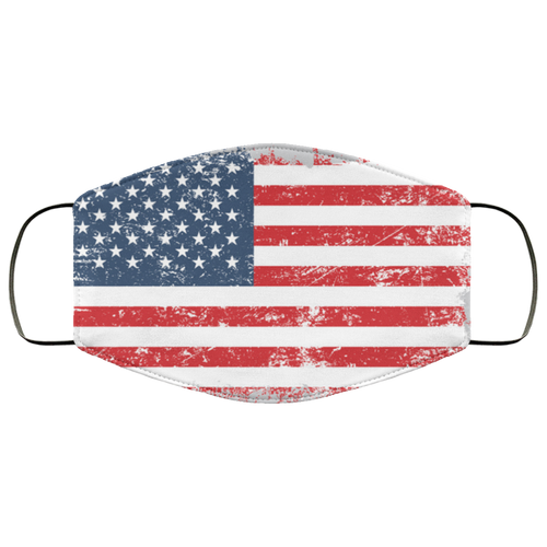 Grunge old american flag Face Mask - Men Women