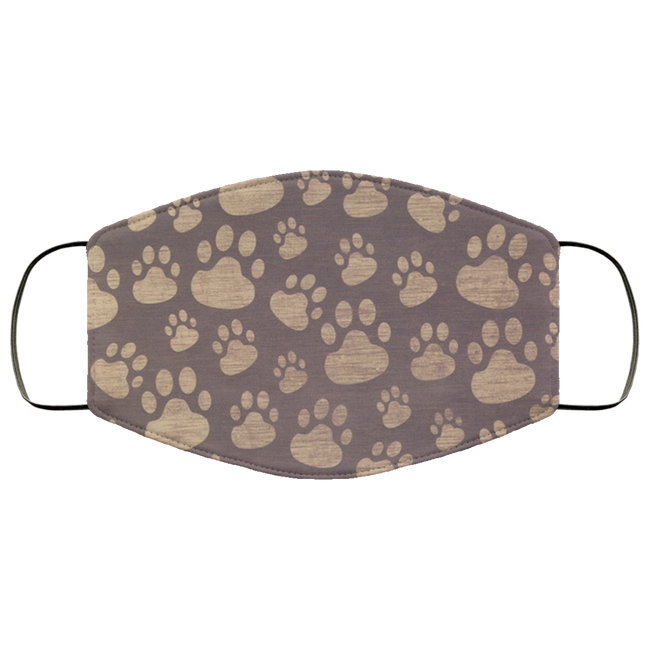 gray and white paws Face Mask - Men Women