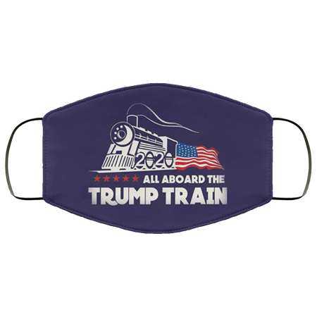 All Aboard The Trump Train 2020 Face Mask - Men Women