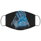 Funny Detroit Lions Football Cloth Face Mask - Men Women