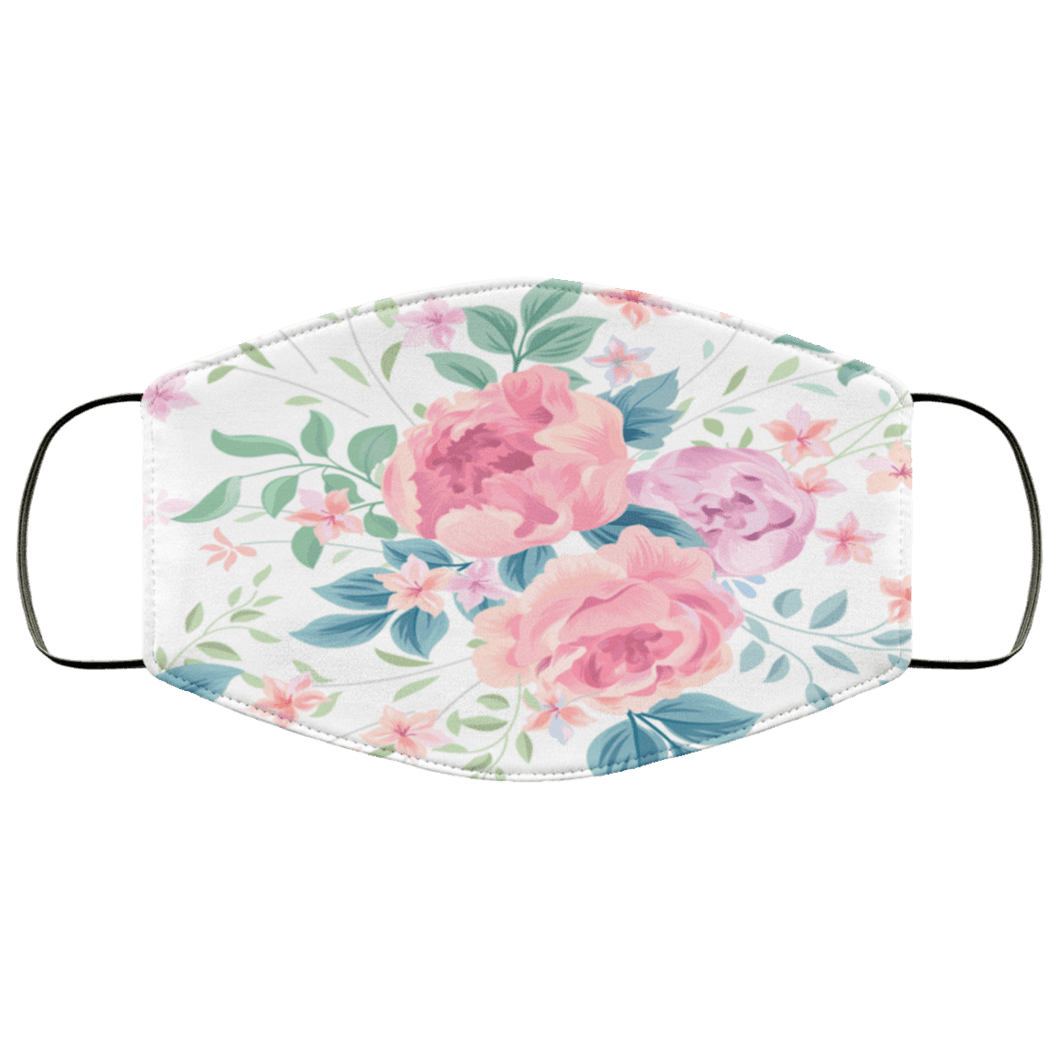 Floral seamless Face Mask - Teekoc