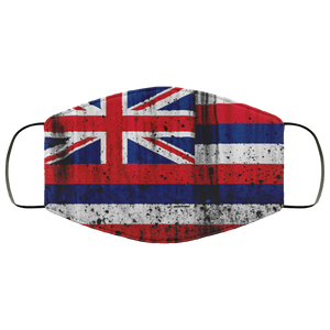 Hawaiian Flag Metal Face Mask - Men Women