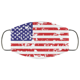 Grunge American flag Face Mask - Men Women