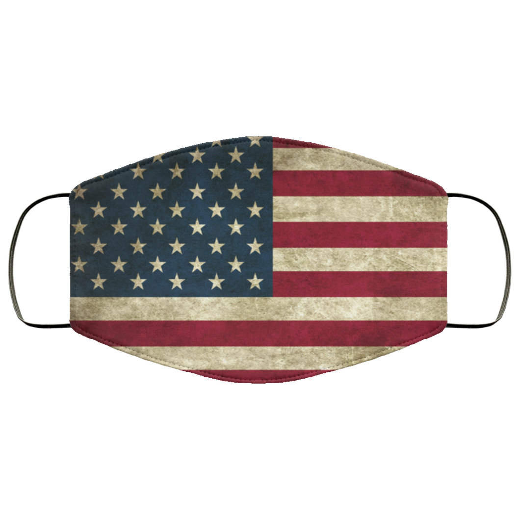 Old American Flag Face Mask - Men Women