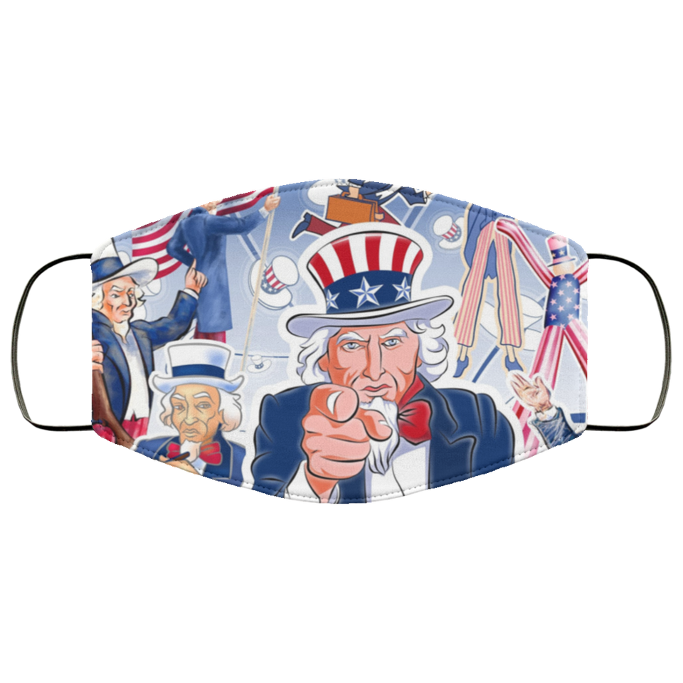 United States Of America Celebration Of Independence Day Face Mask - Men Women
