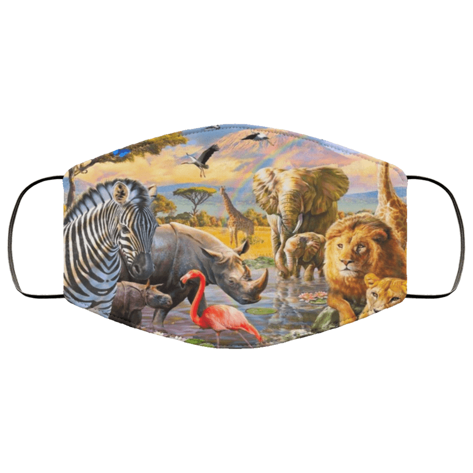 3d murals Animals Face Mask